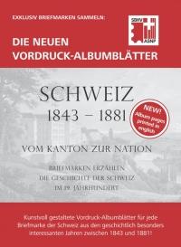 Vordruckalbum SBHV Schweiz 1843-1881 Komplettset